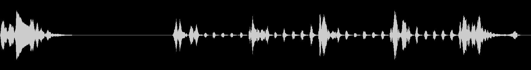 ハーモニカ、2つのバージョン、楽器...の未再生の波形