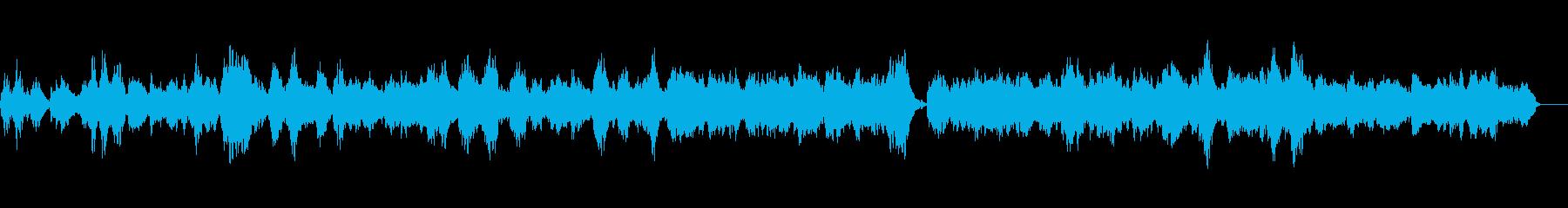 シンセとピアノのアンビエントバラードの再生済みの波形