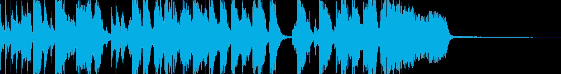 楽しげなRockのジングルの再生済みの波形