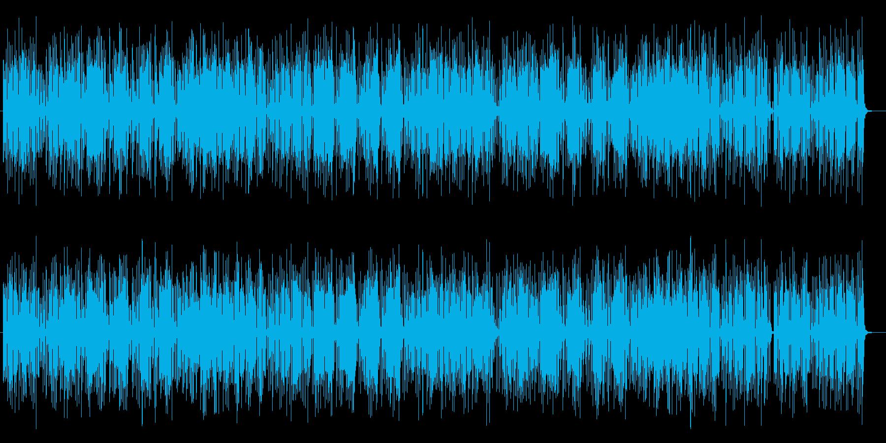 陽気で明るいシンセサイザーの曲の再生済みの波形