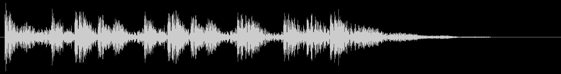 太鼓の転回音 場面転換 ゲームクリアの未再生の波形