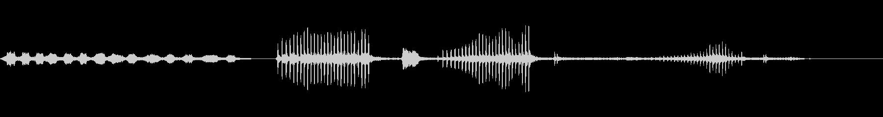 オオタカの森-鳥-2バージョンの未再生の波形