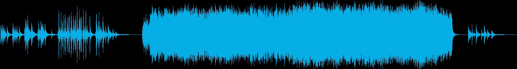 草原広がる近未来のクラシック曲の再生済みの波形