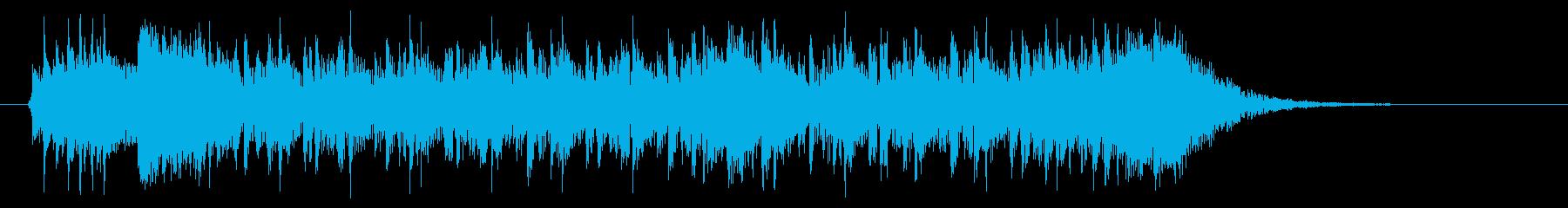 ダークでリズミカルテクノポップジングルの再生済みの波形