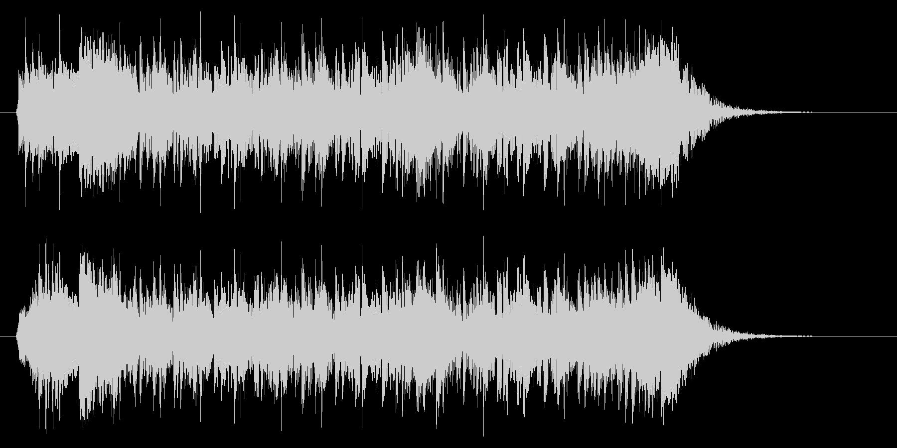 ダークでリズミカルテクノポップジングルの未再生の波形