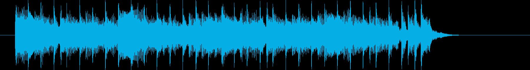 リズミカルで和やかなシンセジングルの再生済みの波形