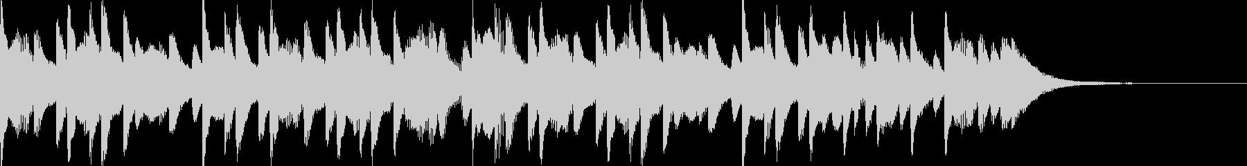 ほのぼのとしたマリンバのジングルの未再生の波形
