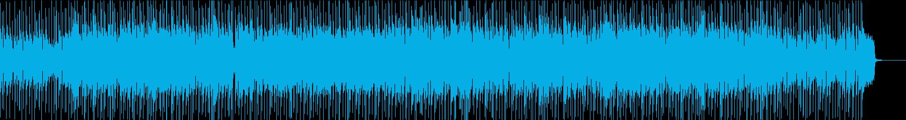 アニメソング風の明るいポップロックの再生済みの波形