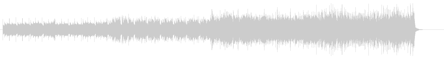 オシャレで落ち着いた雰囲気の短いBGMの未再生の波形