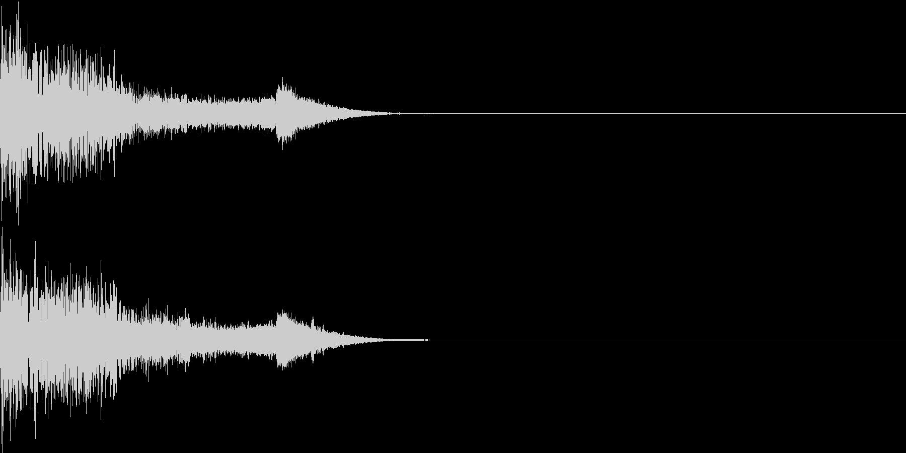 衝撃 金属音 恐怖 震撼 ホラー 34の未再生の波形
