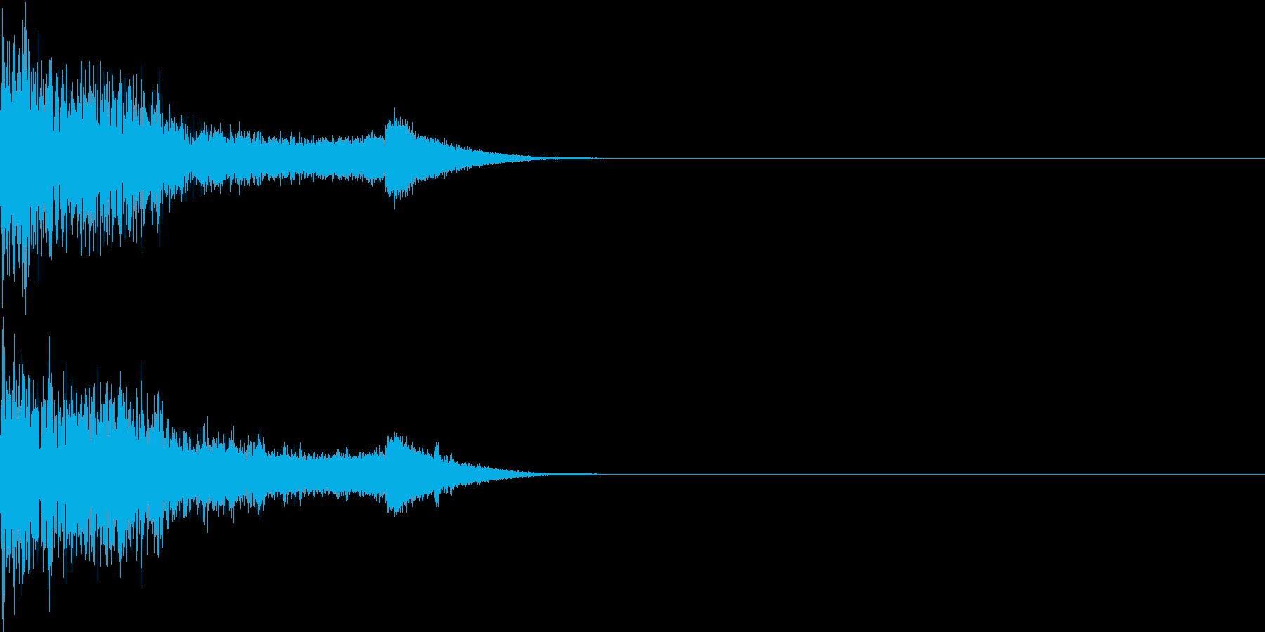 衝撃 金属音 恐怖 震撼 ホラー 34の再生済みの波形