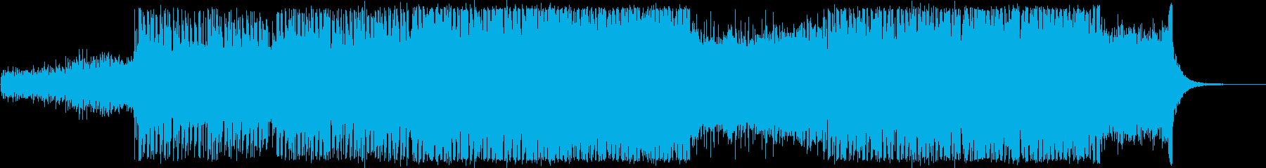 爽やかで広がりあるエレクトロ・EDM風の再生済みの波形