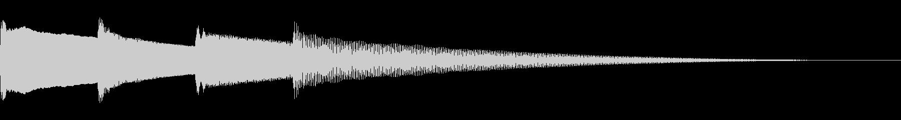 呼び出しベル 下降(ピンポンパンポーン)の未再生の波形