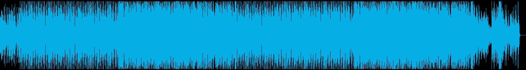 ピアノとバイオリンが絡み合うテクノポップの再生済みの波形