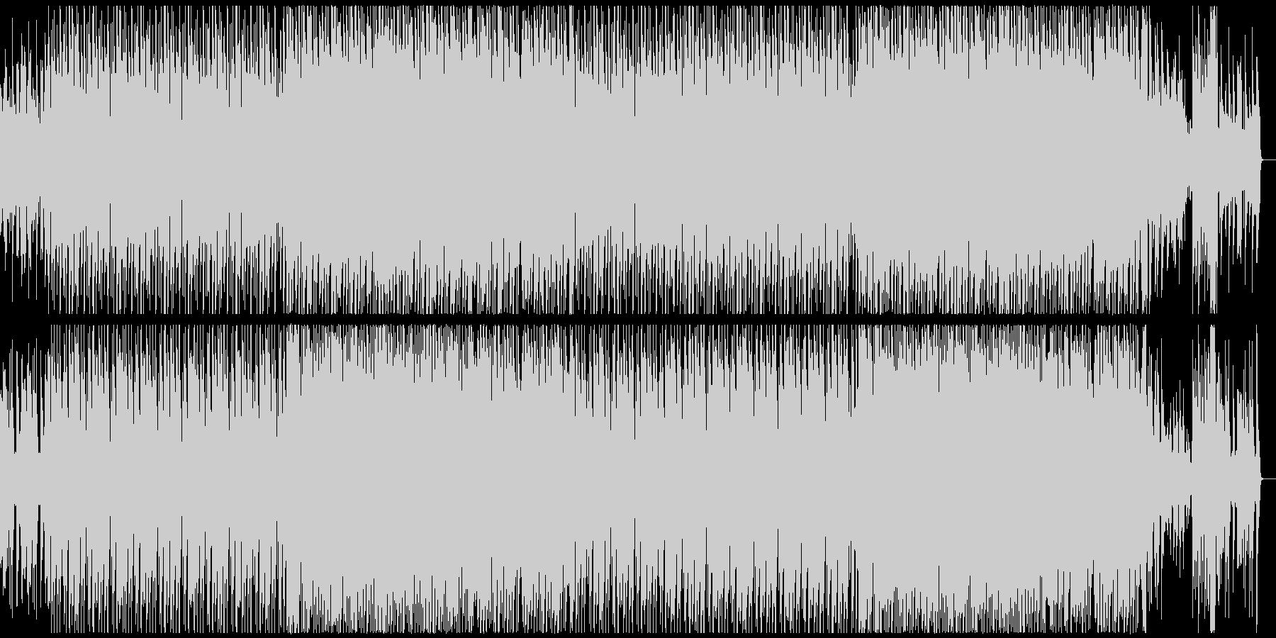 ピアノとバイオリンが絡み合うテクノポップの未再生の波形