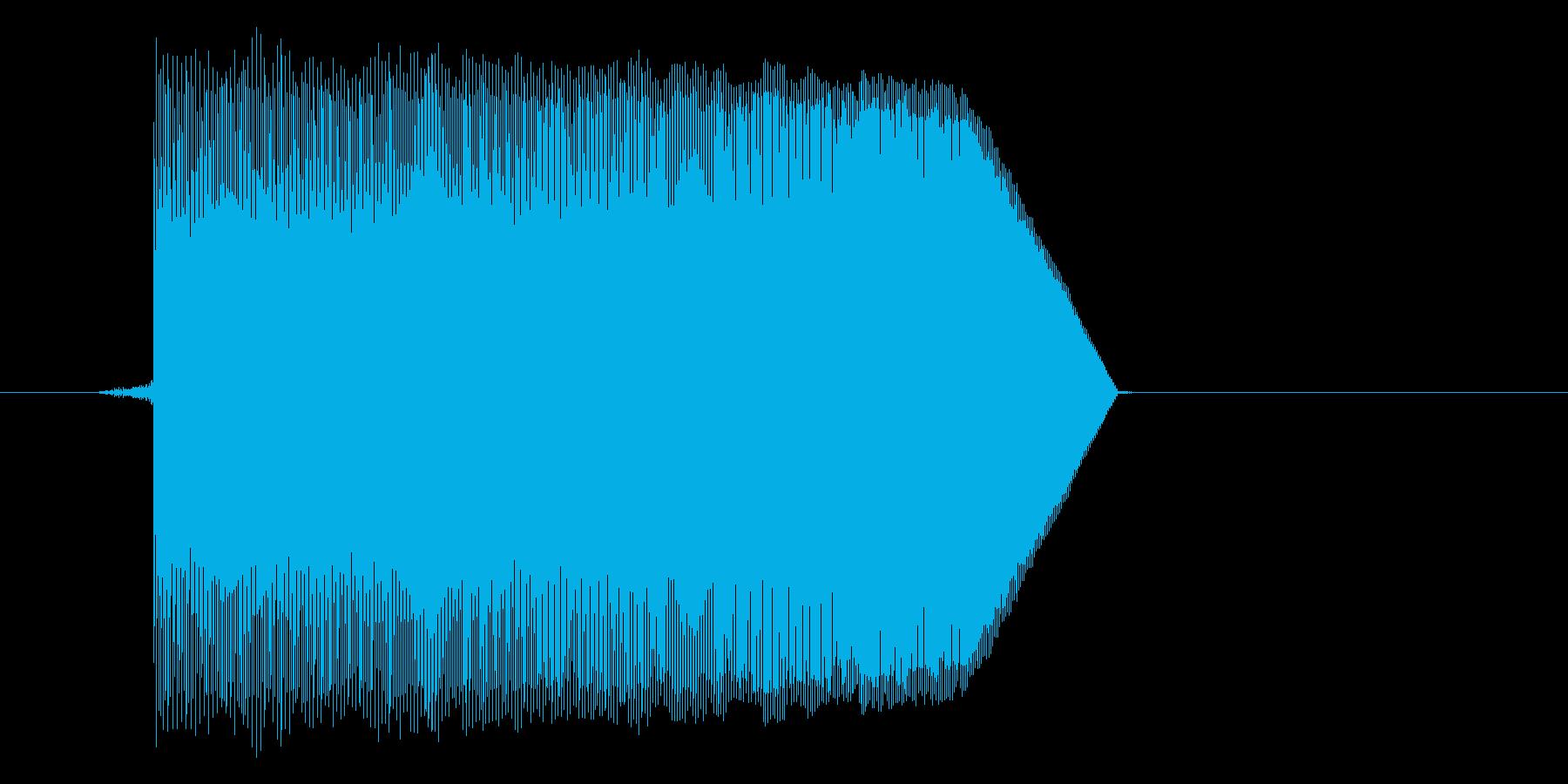 ゲーム(ファミコン風)ジャンプ音_050の再生済みの波形