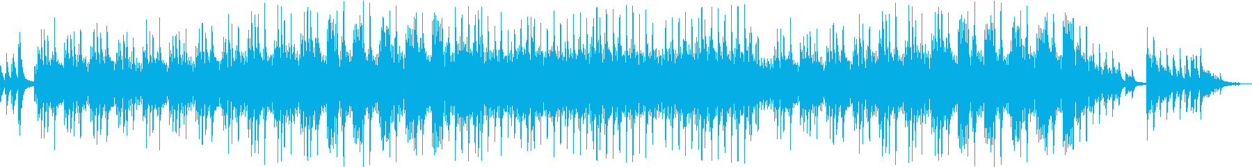 過去を回想するようなピアノソロ曲の再生済みの波形