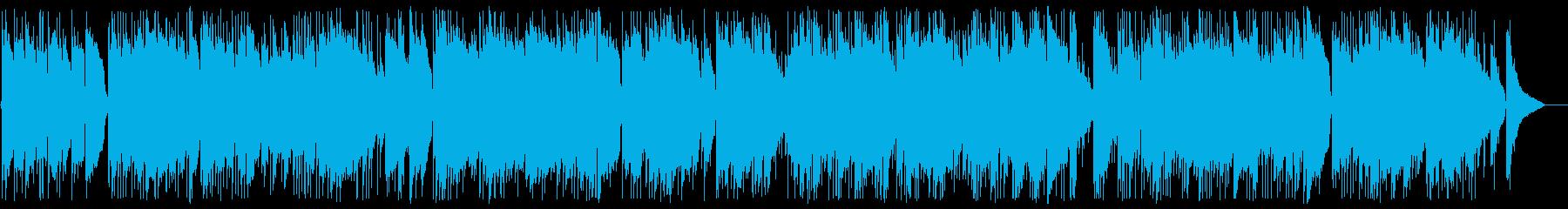ギターデュオのリゾート系ヒーリングの再生済みの波形