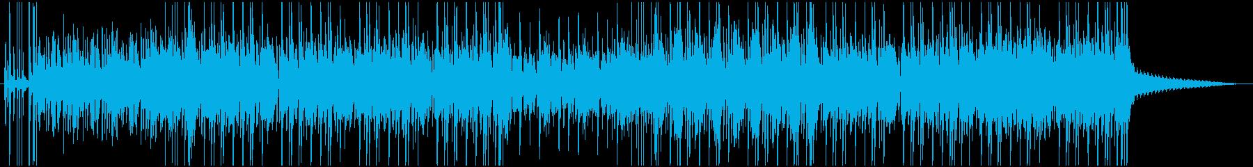 夏らしさを感じるレゲエ、ダブ系BGMの再生済みの波形