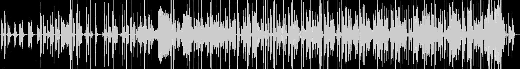 ファンキーなベースラインの曲の未再生の波形