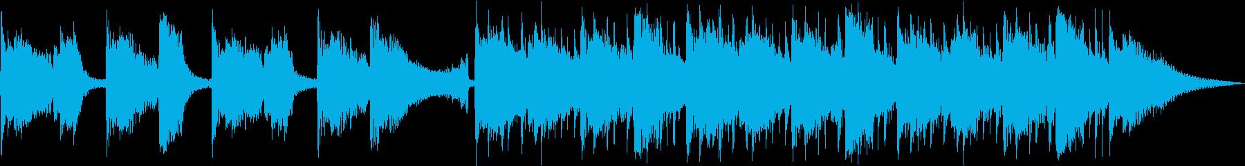 クールなアコギ30秒動画の再生済みの波形