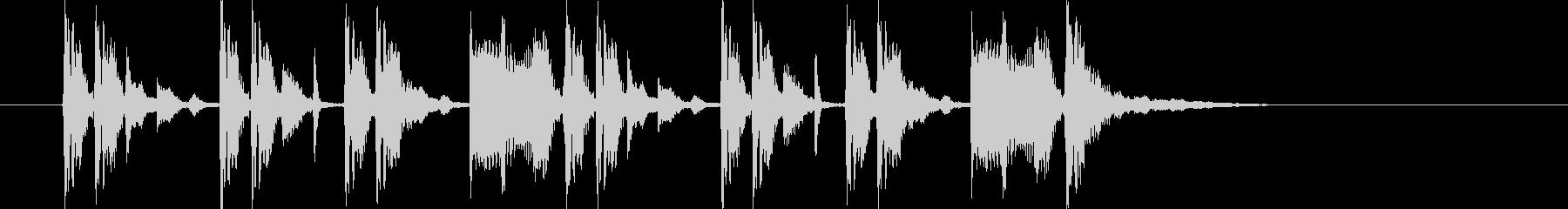 神秘的でヘビーなシンセジングルの未再生の波形