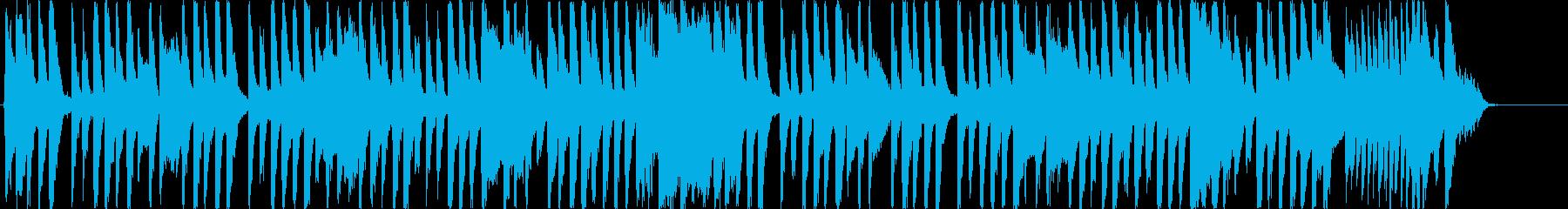 変わった音色のシンセメインのOP曲の再生済みの波形