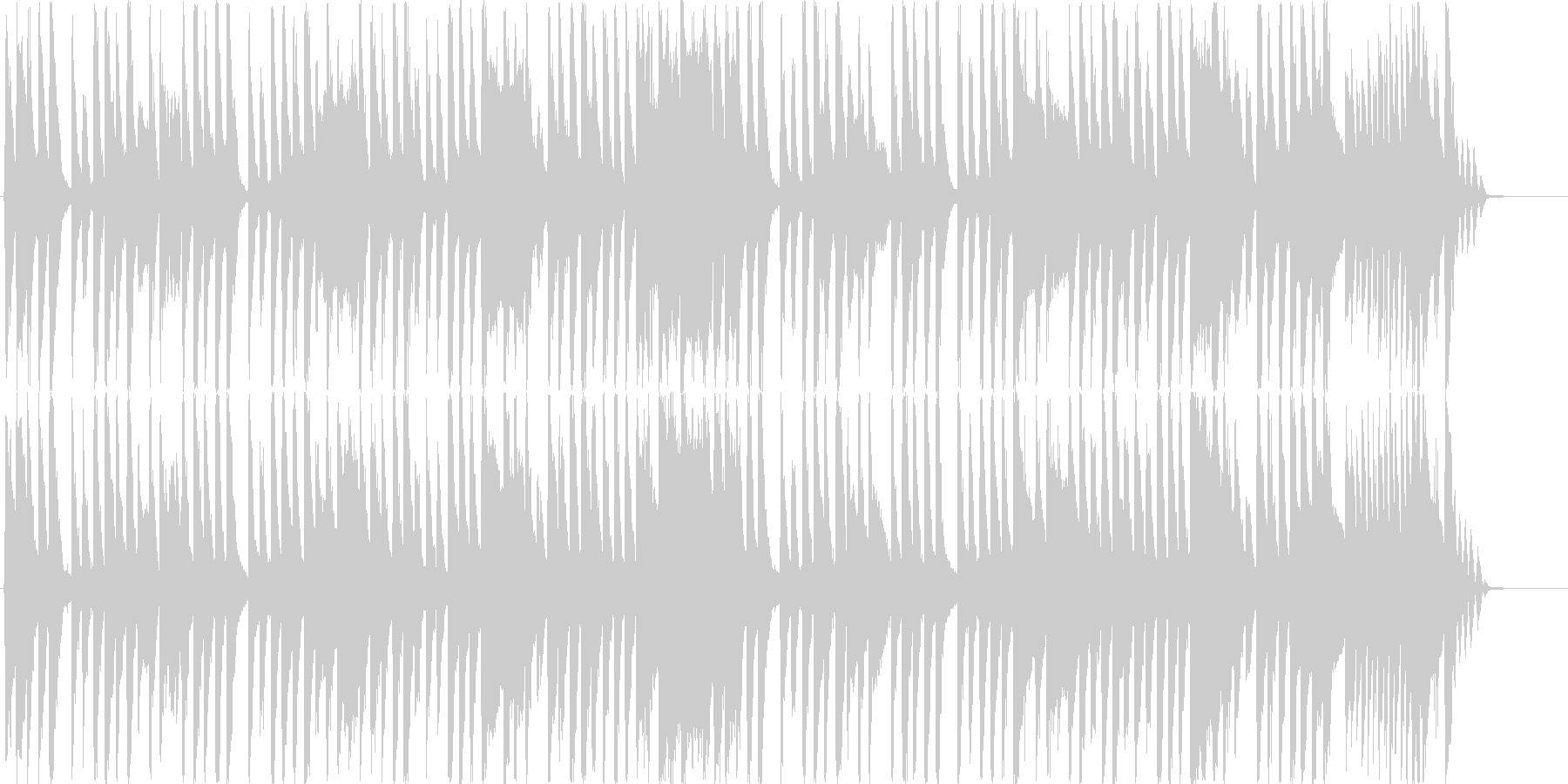 変わった音色のシンセメインのOP曲の未再生の波形