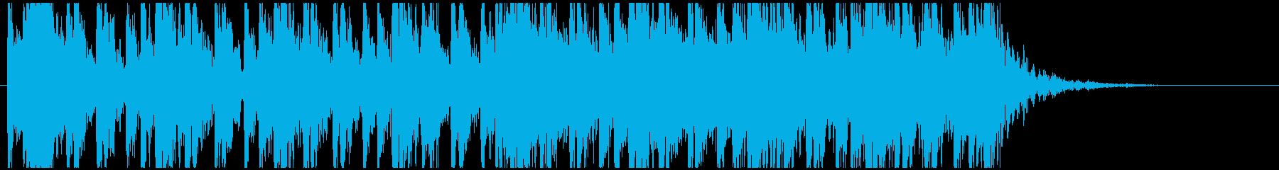 和太鼓のフレーズ3 残響ありBPM140の再生済みの波形