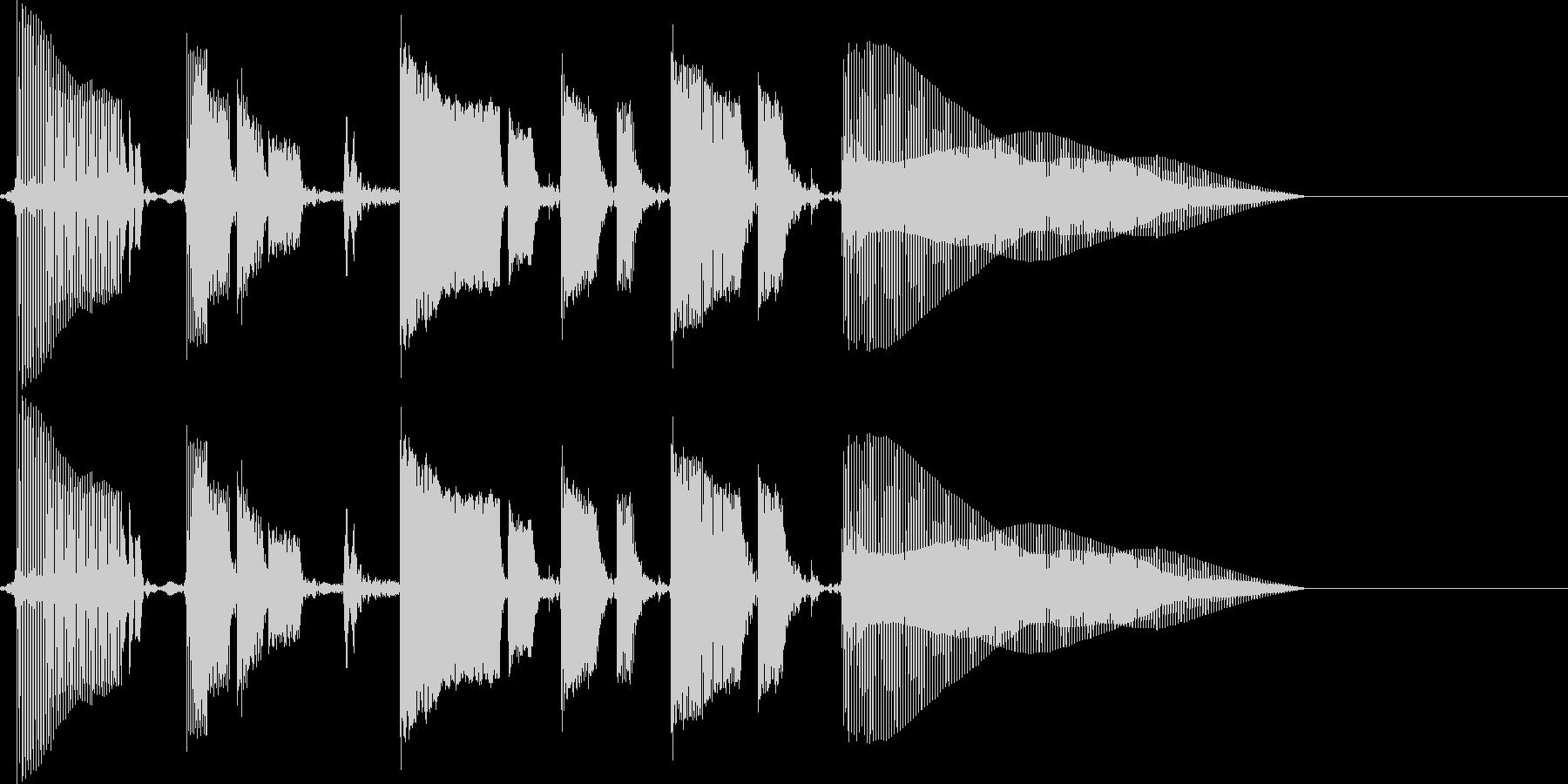 ちょいファンキーなベースのみのジングルの未再生の波形