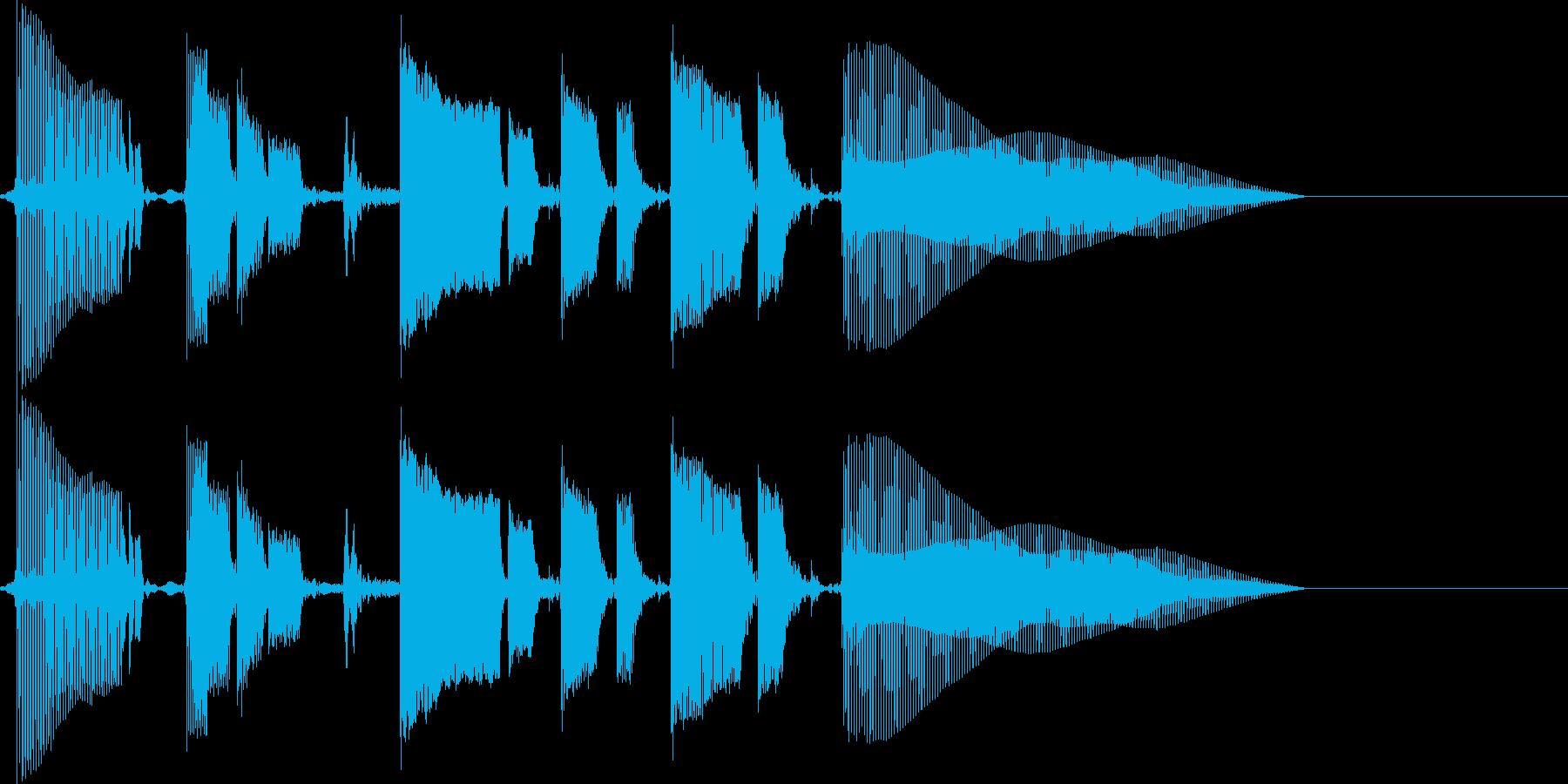 ちょいファンキーなベースのみのジングルの再生済みの波形