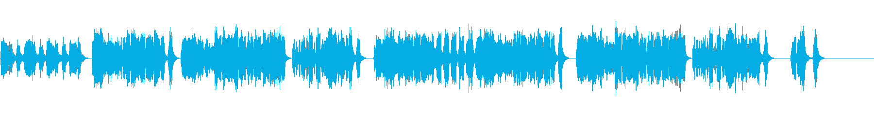 つまらない話をじっと聴くような曲の再生済みの波形