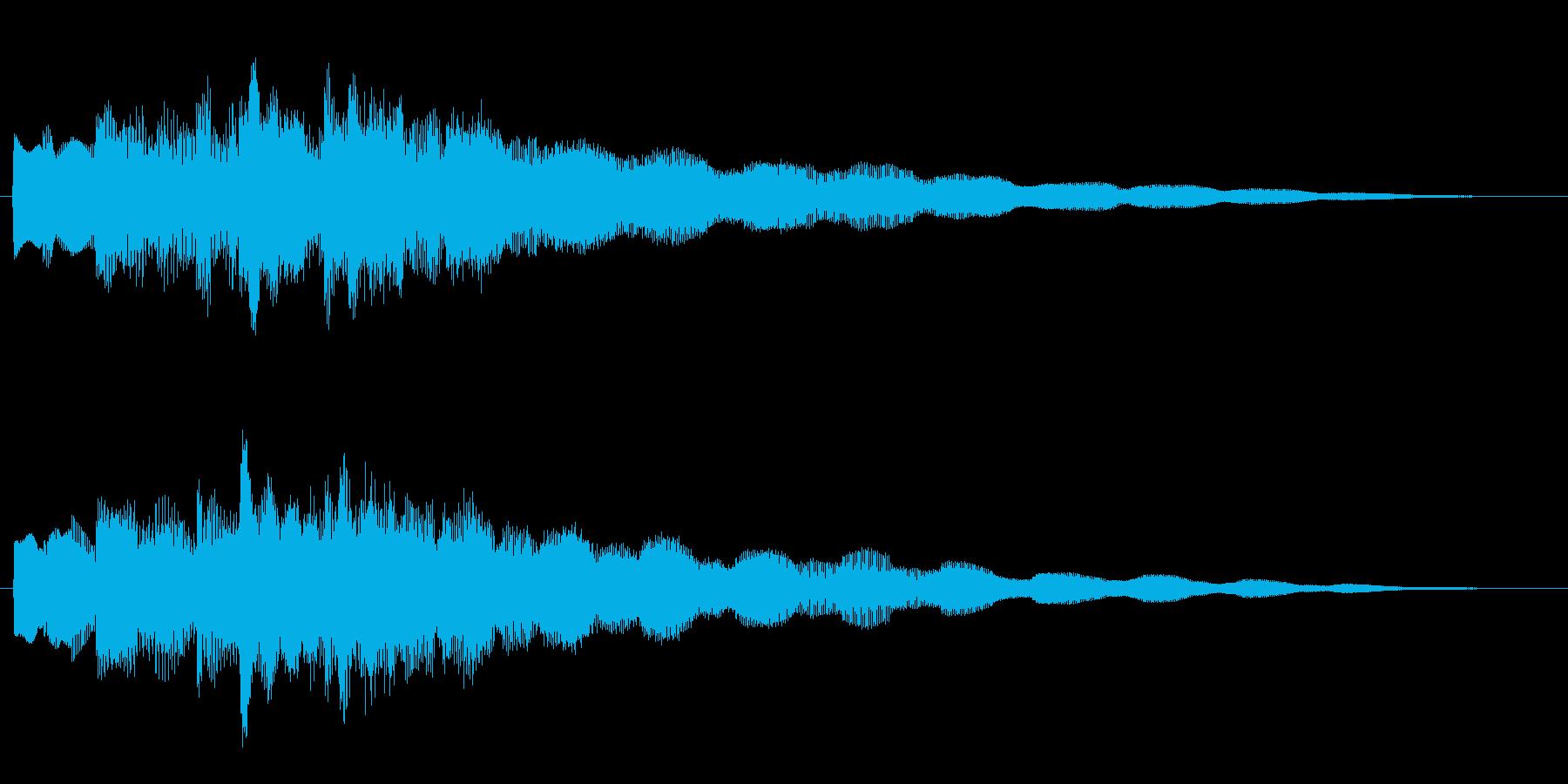 不思議・幻想的なエレピのジングルの再生済みの波形