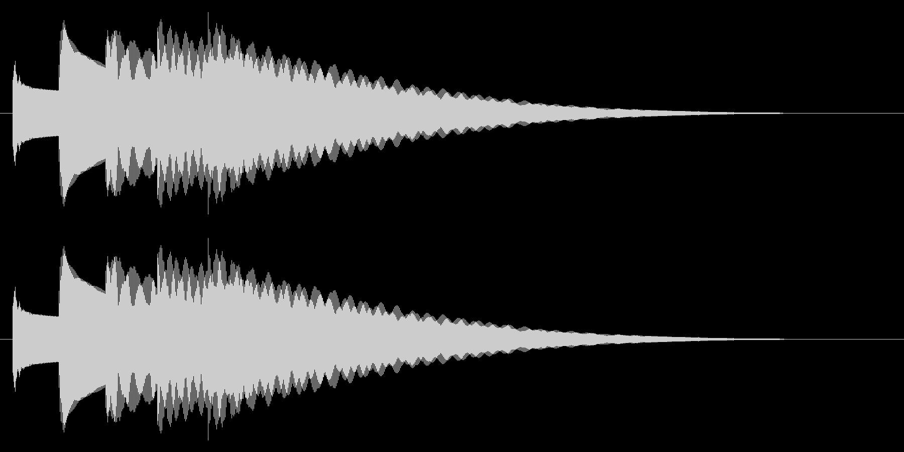 チャイム アナウンス09-1(5点 速いの未再生の波形