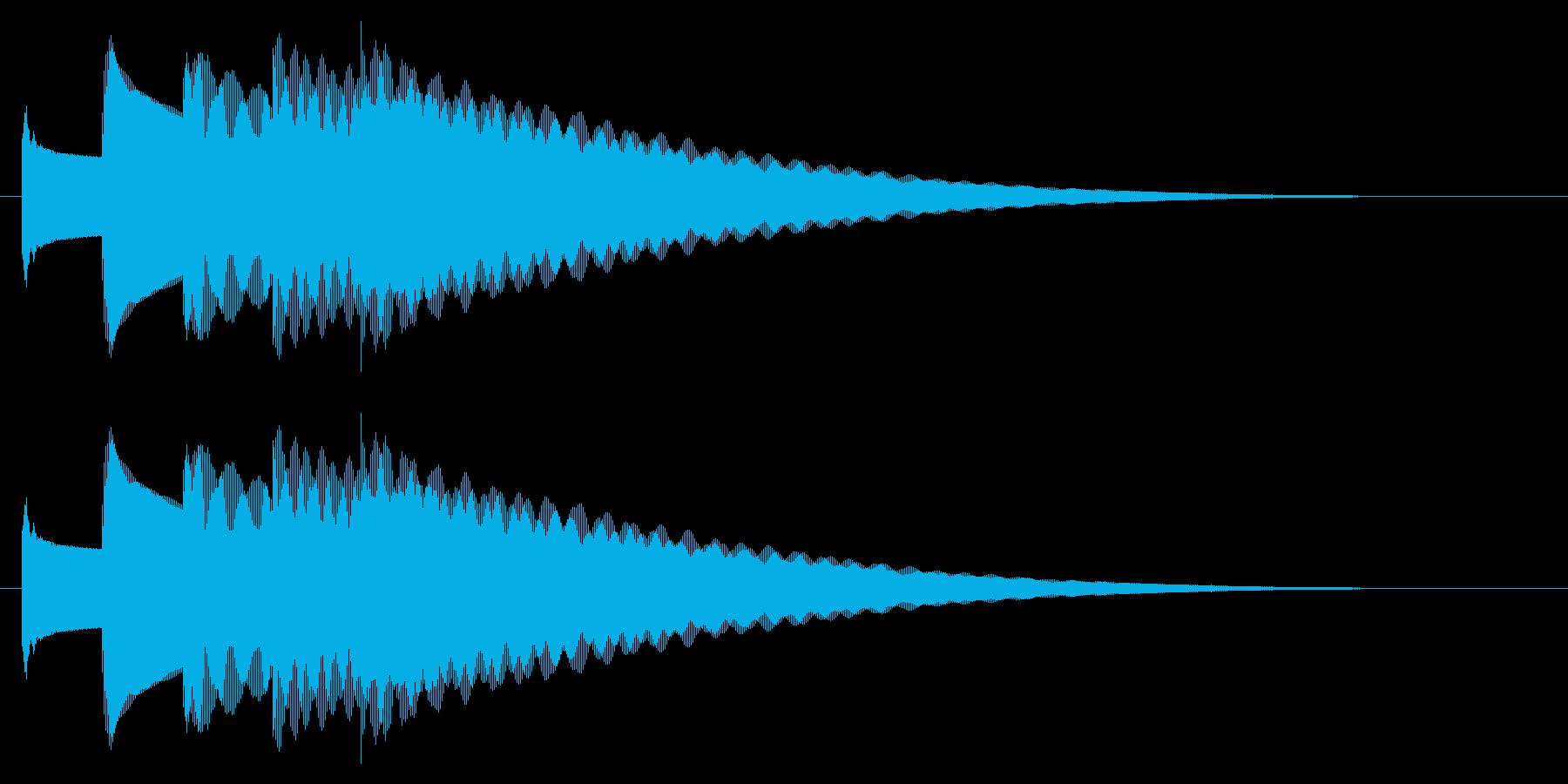 チャイム アナウンス09-1(5点 速いの再生済みの波形