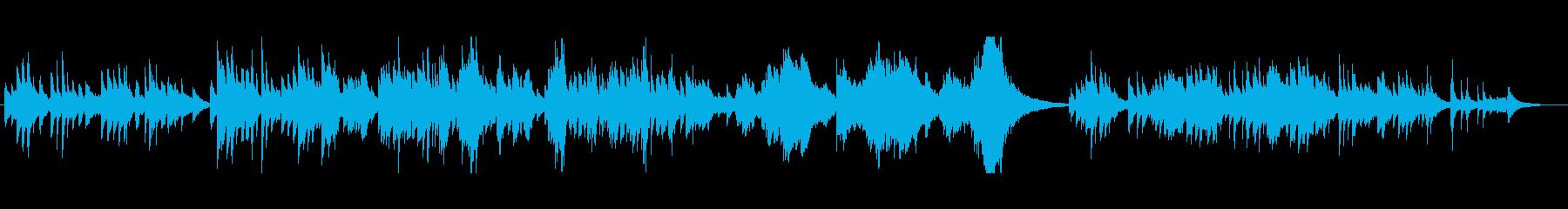 透き通る切なさの静かなピアノ生演奏の再生済みの波形