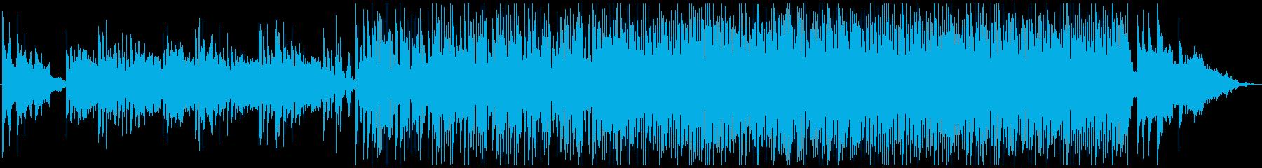 「春霞」をイメージした幻想的で淡い曲の再生済みの波形
