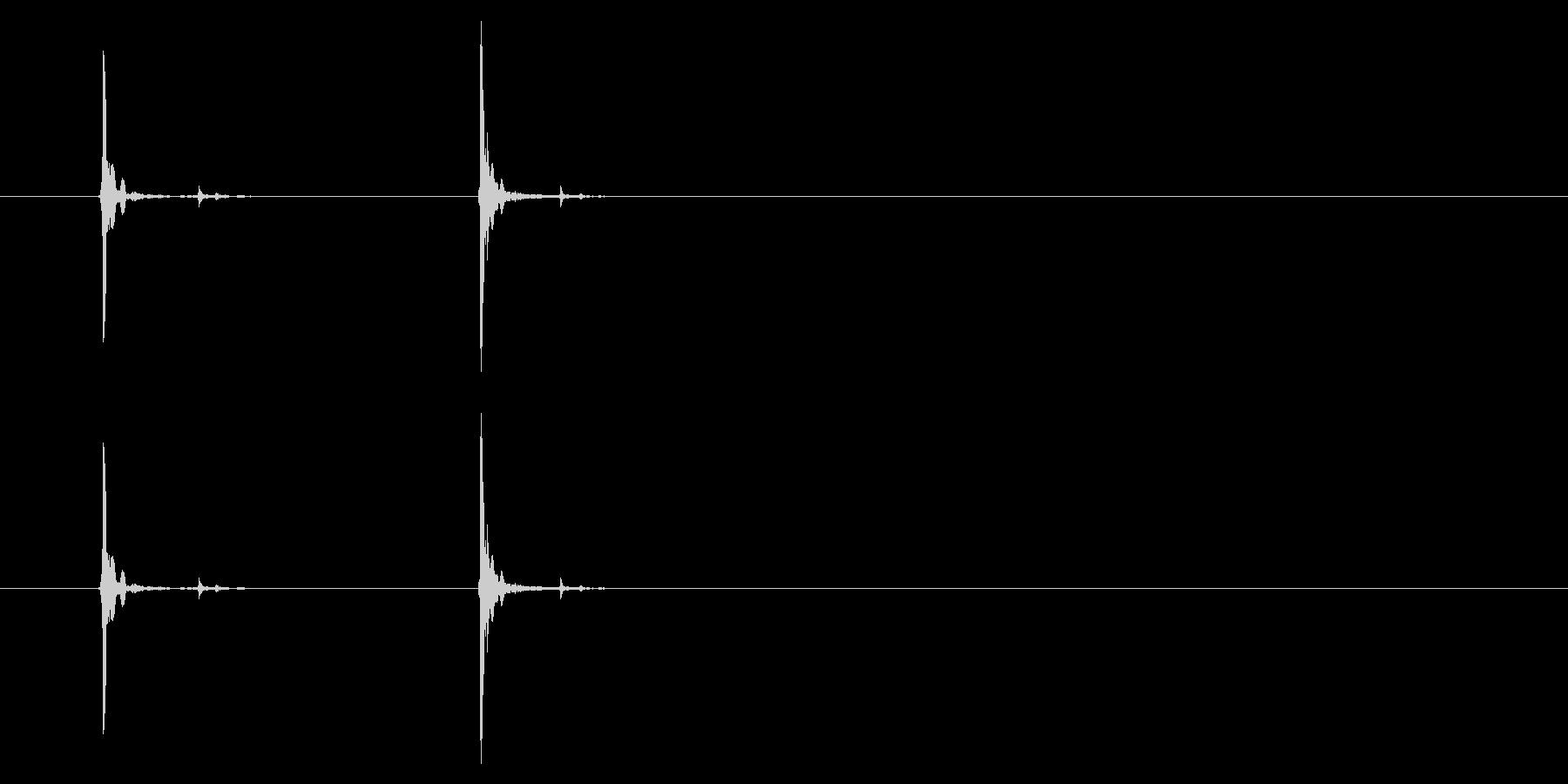 PC マウス02-07(左 強 ダブル)の未再生の波形