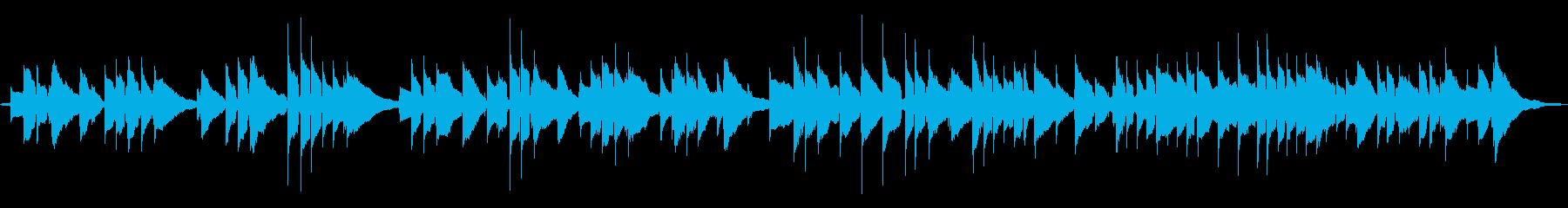 リラックスできるチルミュージックの再生済みの波形