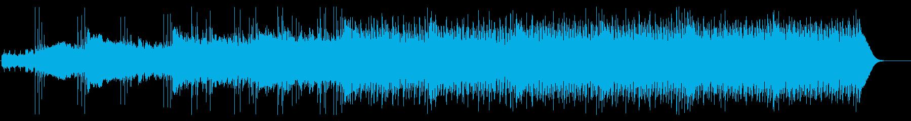不気味な感じの四つ打ちの再生済みの波形