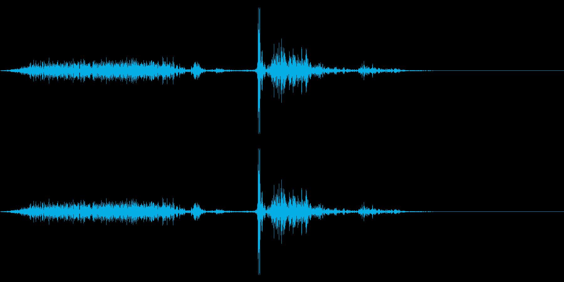 【生録音】本のページをめくる音 16の再生済みの波形