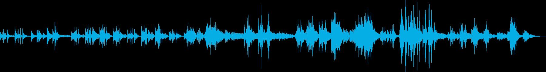 和風の切ないピアノバラード(幻想的)の再生済みの波形