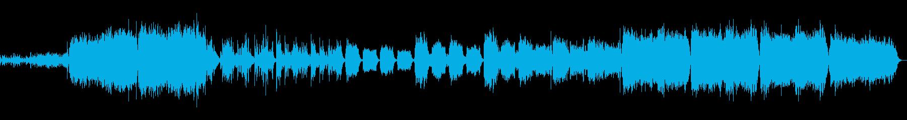 不穏なことが起きていきそうなオケ曲の再生済みの波形