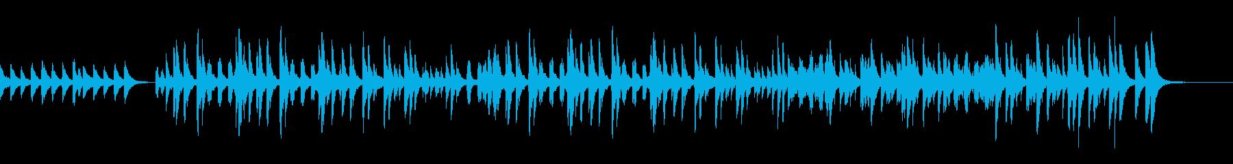 マリンバがメインのアップテンポBGMの再生済みの波形