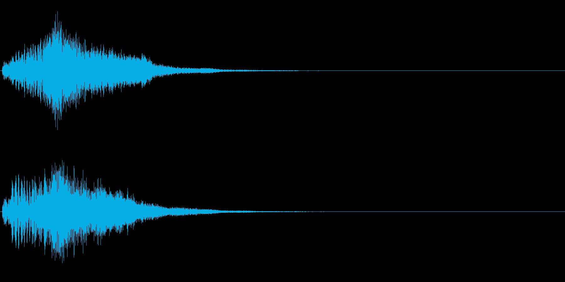 ハープ・上昇_1-1の再生済みの波形
