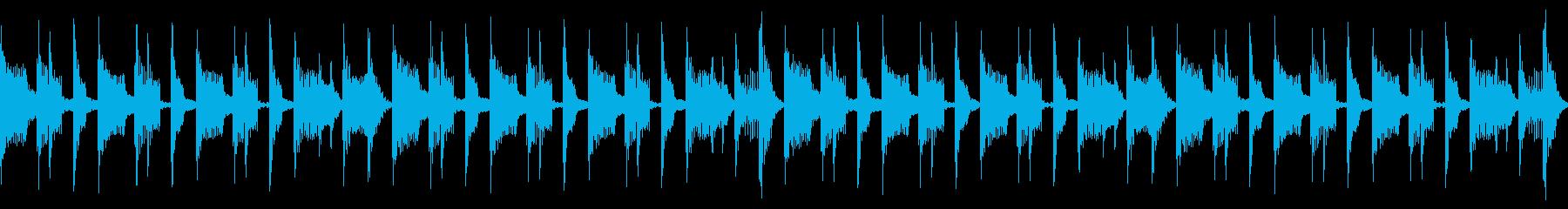 スラップベースにコミカルなフレーズの再生済みの波形