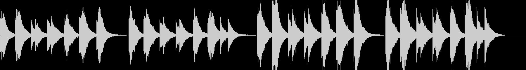 時報・チャイム風の名曲のメロディ・9の未再生の波形