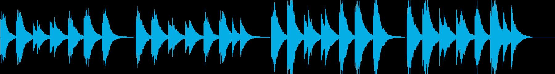 時報・チャイム風の名曲のメロディ・9の再生済みの波形