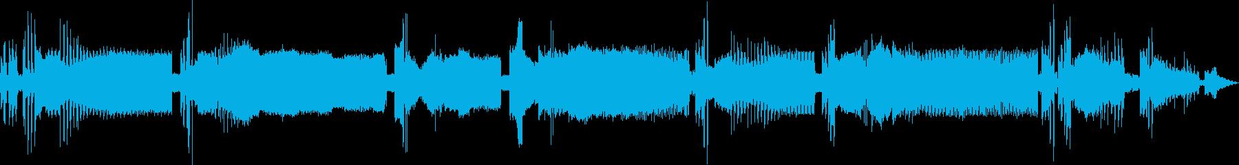 壊れた宇宙通信テクスチャの再生済みの波形