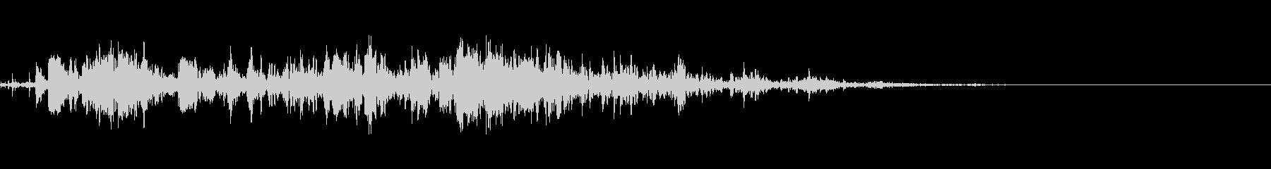 雷 落雷の迫力ある効果音 03の未再生の波形